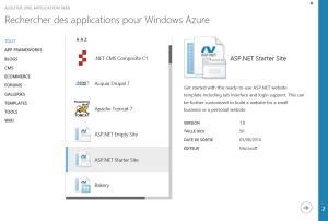 Choix Azure ASP