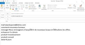 exemple mail