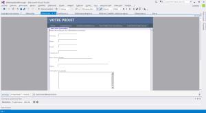 Formulaire ASP Design