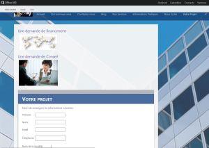 Formulaire ASP NET dans Site Sharepoint