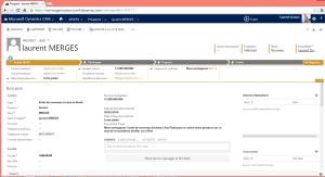 Prospect CRM suite saisie via Web